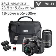 all digital cameras nikon d7200 dslr camera 2 lens bundle