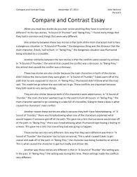 cover letter compare essay example comparison essay example free    cover letter compare and contrast essay help format example compare essaycompare essay example