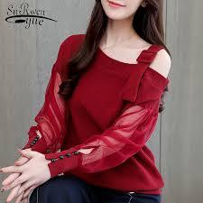 Autumn long sleeve shirt women <b>fashion</b> woman blouses 2020 <b>sexy</b> ...