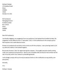 a letter of resignation   how to write onesample resignation letter