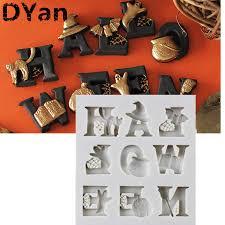 <b>Halloween</b> Letters shape <b>Silicone Cake</b> Mold <b>Halloween</b> Alphabet ...