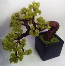 Artificial bonsai tree Beaded green <b>bonsai Home decor</b> bonsai ...