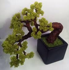 Artificial bonsai tree Beaded green <b>bonsai Home decor</b> bonsai ...