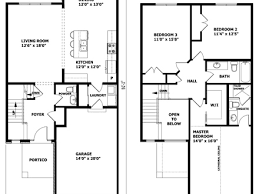 Story Modern House Designs Modern Story House Floor Plan    Modern Two Story House Plans Middle Class Modern Two Story House