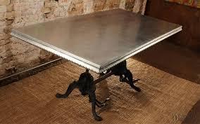 images zinc table top: cast zinc tabletop e  e table  cast zinc tabletop e