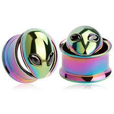 KUBOOZ(1 Pair Colorful Alien Ear Plugs Tunnels ... - Amazon.com
