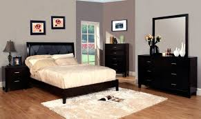 black black bedroom furniture set featured low profile queen platform bed frame and chest of drawer bedroom black furniture set