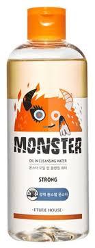 Etude House <b>двухфазная очищающая вода</b> Monster Oil Cleansing ...