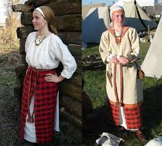 Medieval Slavic costume of Ancient Russia: Krivichi   Одежда ...