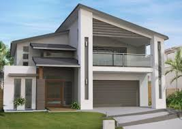 ideas about Double Storey House Plans on Pinterest   Two     Bedroom narrow block floor plan  Latest Storey Home Design Narrow block