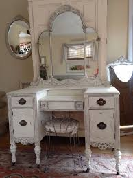 creamy white distressed antique shabby chiccottage depression vanitydesk stoolvintage bedroom furniture local pick up only pa bedroom furniture shabby chic