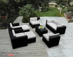 black wicker outdoor furniture black outdoor furniture