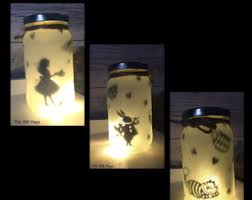 sets light wood awesome photography lighting night light mood lighting alice in wonderland theme fairy jar glitter