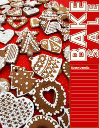 christmas cookie bake flyer bake flyers flyer christmas cookie bake flyer