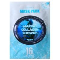 16brand 16 Skin Guide Book Marine Collagen Shower <b>Тканевая</b> ...