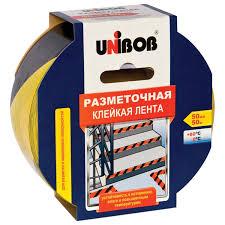 <b>Клейкая лента UNIBOB разметочная</b> 50 мм х 50 м, желто-черная ...