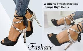 Womens <b>Peep Toe</b> Platform Stilettos Pumps <b>High Heels</b> Strappy
