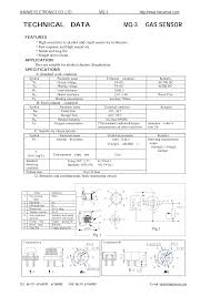 TECHNICAL DATA <b>MQ</b>-<b>3</b> GAS <b>SENSOR</b>