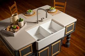 undermount farmhouse sink kitchen  swufwh