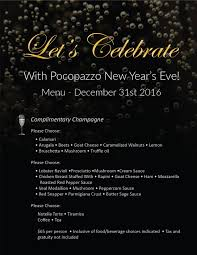 home poco pazzo pocopazzo click here to see our new years eve menu