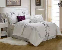 white bedding set city scene triple diamond white comforter set