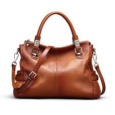 Kattee <b>Women's</b> Urban Style <b>Genuine</b> Leather Tote <b>Shoulder Bag</b> ...