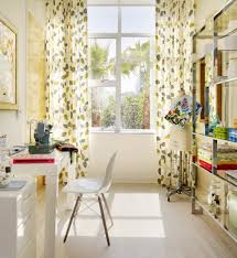 home office curtains. floor to ceiling curtains for scandinavian home office with pattern n