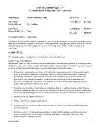 city of chattanooga tn classification title internal auditor internal auditors job description
