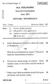 metaphysics 2012 social work philosophy ma university metaphysics 2012 social work philosophy ma university exam indira gandhi national