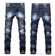 2019 <b>Men'S</b> Distressed Ripped Skinny <b>Jeans Fashion Designer</b> ...