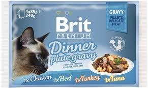 """Набор <b>паучей</b> для кошек <b>Brit Premium</b> """"Dinner Plate <b>Gravy</b> ..."""
