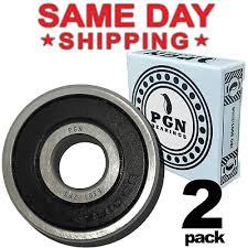 Lot of <b>2 PCS</b>, <b>6301</b>-<b>2RS</b> Premium Rubber Sealed Ball Bearing ...