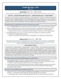 Award Winning CFO Resume   Executive Resume Writing Services