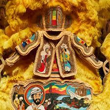 <b>Beaded</b> Mardi Gras costumes by Big Chief Demond Melancon at V&A