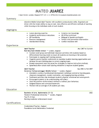 examples of teachers resumes template examples of teachers resumes