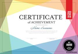 Certificate Layout with Overlapping <b>Colors</b>. Buy this stock template ...