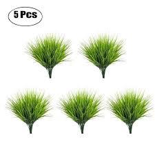 5pcs set artificial grass plant decorative bendable fake decoration supplies for home office