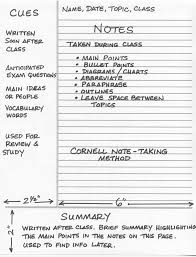 cornell note taking method journals notebooks paper cornell note taking method