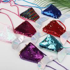 Fish Tail <b>Sequins Lanyard</b> Wallet Plush Wallet Long Rope Diagonal ...