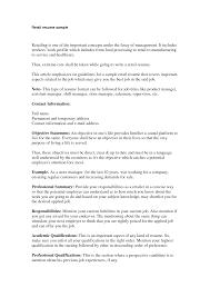 Resume Objective Retail  retail sales associate resume objective     happytom co