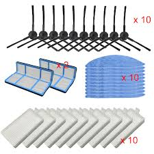 <b>Side Brush</b> Hepa Filter <b>Primary Dust</b> filter Mop Cloth for chuwi ilife v5 ...
