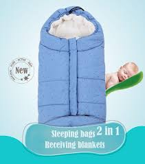 Thicken Baby Sleeping Bag <b>Baby Stroller Sleeping Bag</b> Winter ...