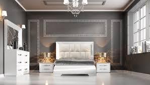 Modern Bedroom Collections Carmen White Modern Bedrooms Bedroom Furniture