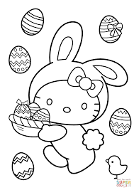 Small Picture Hello Kitty Easter Bunny coloring page Free Printable Coloring Pages