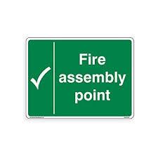 Fire Assembly Point Sign - <b>Standard</b> [3mm <b>Aluminium</b> Composite ...