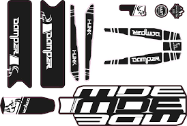 DAMPER 2018-<b>2019 decals</b> Kit - MDE Bikes