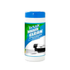 Чистящие <b>салфетки</b>, Delux, Multi Clean 100шт/туба (голубая)