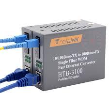 Sepasang <b>Htb</b>-<b>3100ab</b> Konverter <b>Fiber</b> Optik Penerima Serat Optik ...