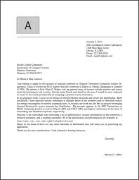 More Cover Letter Examples