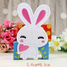 2Pcs/Lot DIY Applique Cartoon Animal Embroidery <b>Patches Lovely</b> ...